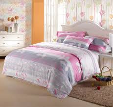 bedding image of light pink and grey bedroom