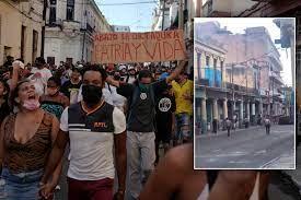 video shows Cuban authorities firing ...