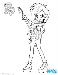 My Little Pony Equestria Girls Rainbow Rocks Coloring Pages ...