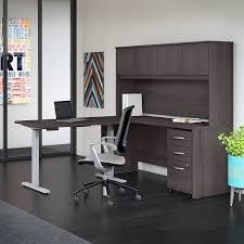 office desk with hutch storage. Studio C 72W L Desk, Hutch, Height Adjustable Return \u0026amp; Storage, Office Desk With Hutch Storage