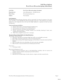 Brilliant Ideas Of Samples Of A Resume Sample Housekeeping Resumes