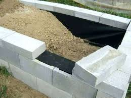 concrete block raised bed concrete block raised bed creative of building a garden wall with concrete