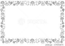 罫線 飾り罫 飾り線 リボンのイラスト素材 Pixta