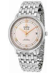 amazon co uk omega watches omega men s de ville 36 8mm steel bracelet automatic watch