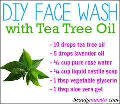 learn how to make an easy diy face wash with tea tree oil