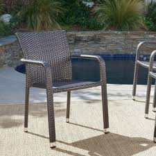 wicker patio dining chairs. Wonderful Wicker Wiersma Stacking Patio Dining Chair Set Of 4 And Wicker Chairs N