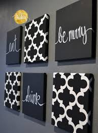 astounding eat drink and be merry wall decor as well as black and white moroccan 6 pack wall art