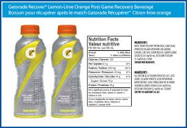 gatorade recover lemon lime orange post game recovery beverage
