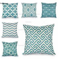 turquoise decorative pillows. Plain Pillows Quatrefoil Turquoise Pillow Case Decorative Pillows Linen Cushion Cover  Home Decor Geometric Throw Scandinavian Cusion Intended Q