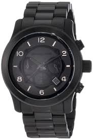 michael kors watches michael kors men s black leather chronograph michael kors watches michael kors men s black leather chronograph sport best deal great