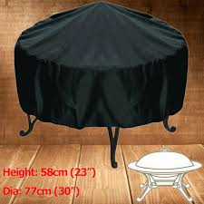 44 inch patio round fire pit cover waterproof uv protector grill bbq cover black for