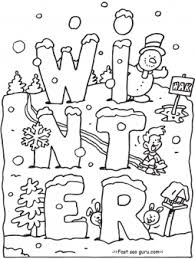 Free Printable Winter Coloring Pages For Preschoolersfree Online