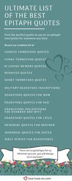 Headstone Quotes For Mom Awesome 48 Best Epitaph Examples Pinterest Reunited Quotes Tombstone