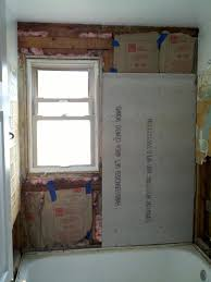 Bathroom Window Beauteous Newb Tiling Alcove Bathroom Walls W Flushmounted Window Kitchen