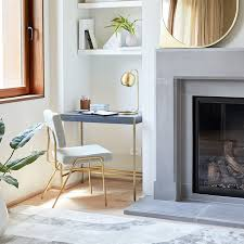 Home office interior design inspiration Desk Corner Desk West Elm Home Office Inspiration West Elm