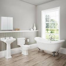 White Bathroom Suite Darwin Traditional Bathroom Suite Now At Victorian Plumbingcouk