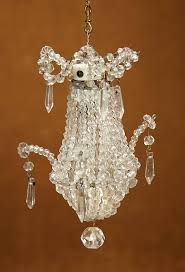 french miniature crystal glass chandelier