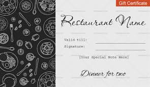 dinner template dinner for two gift certificate templates editable