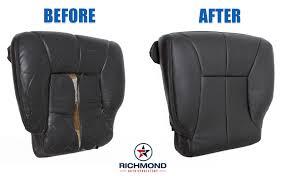 1998 2001 dodge ram 1500 slt laramie leather seat driver bottom very dark gray