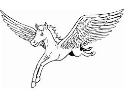 Nice Design Pegasus Coloring Pages Pegasus Coloring Pages With