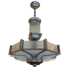 French Art Deco Petitot Chandelier French Art Art Deco And