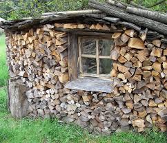 Fenster Im Brennholz