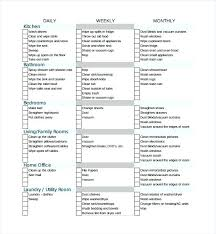 cleaning checklists maid checklist template bodiesinmotion co