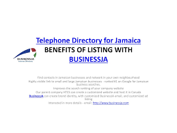 Telephone Listing Ppt Telephone Directory For Jamaica Powerpoint Presentation Id