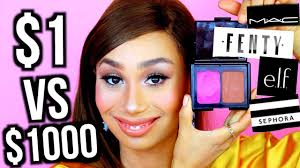 10 dollar makeup vs 1000 dollar makeup the same look mylifeaseva