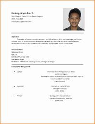 Simple Filipino Resume Format Resume Corner