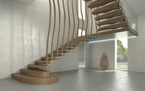 Wave  floating staircase modern design
