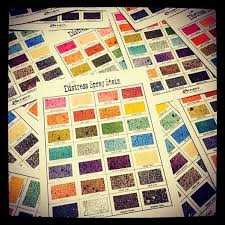 Tim Holtz Distress Spray Stains Color Charts Simple