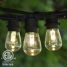 commercial grade outdoor led string lights medium base commercial globe quick view km48bkledpflb11ww s14 1 view