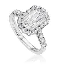 Christopher Designs Halo Engagement Ring Christopher Designs Crisscut Diamond Engagement Ring