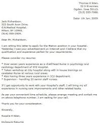 Cover Letter For Chief Of Staff Position Medical Cover Letter Examples Cover Letter Now
