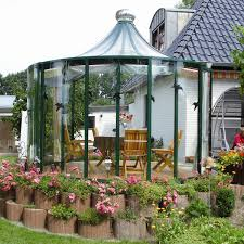 gazebo glass. this unique gazebo has glass walls and top which give great visibility while still providing protection