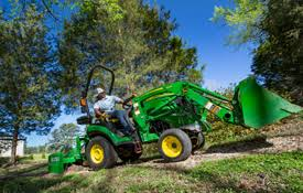 sub compact utility tractors 1023e tractor john deere us implement compounding 1025r tractor shown
