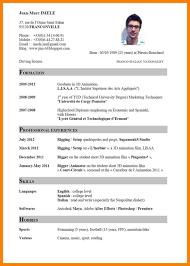 15 Format Of A Curriculum Vitae Sopexample