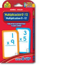 Bilingual Multiplication Flash Cards