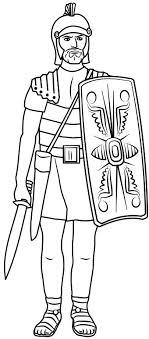 Centurion Soldier Colouring Pages Jesus Heals Centurions Servant
