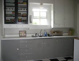 White Glass Kitchen Cabinets Grey Kitchen Cabinets With Black Countertops Glass Door Stainless