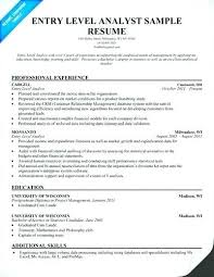 How To Write A Entry Level Resume Inspiration Financial Analyst Cv Objective Entry Level Resume Format Example F