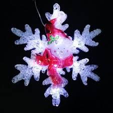 """<b>Светодиодная фигура</b> """"Снежинка со снеговиком"""" Красный, на ..."""