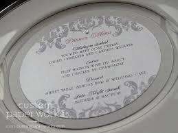 Round Wedding Menu Cards Iq75 Advancedmassagebysara