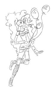 equestria girls coloring pages girls coloring pages pinkie pie human no color by my little