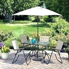 mainstay outdoor furniture dining sets patio mainstays folding set with umbrella dune seats 4 covers replacement cushions