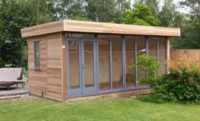 outdoor garden office. cedar clad 5m x 36m contemporary garden office with an anthracite grey finish to doors outdoor 0