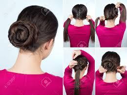 髪チュートリアル ステップ バイ ステップシンプルな髪型ツイストお