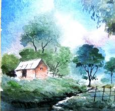 how to paint landscape painting watercolor painting tutorial watercolor painting for beginners you