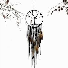 Tree Branch Dream Catcher Tree Of Life Dream Catcher With Natural Stone Charm Project Yourself 79